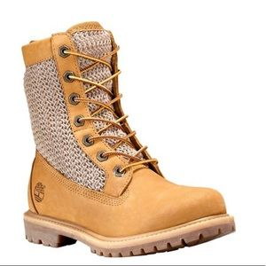 New TImberland Open Weave Wheat Nubuck Boots